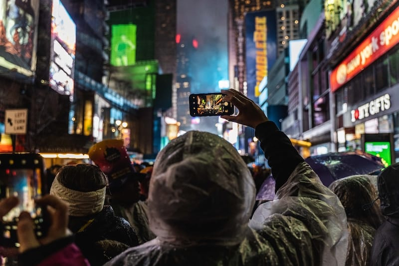 Times Square in New York at winter