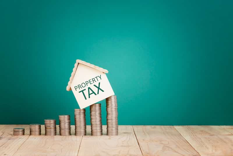 Property tax lien on New York home